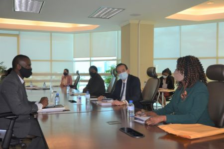 The Cabinet sub-committee looking into the operations of WASA meets at the MPU's Head Office
